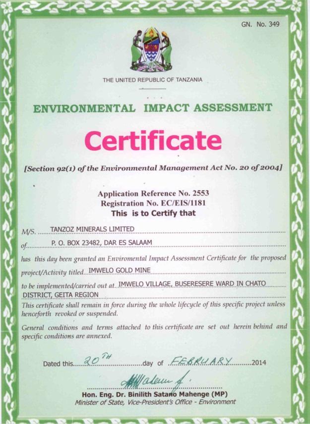 EnvironmentalCertificate
