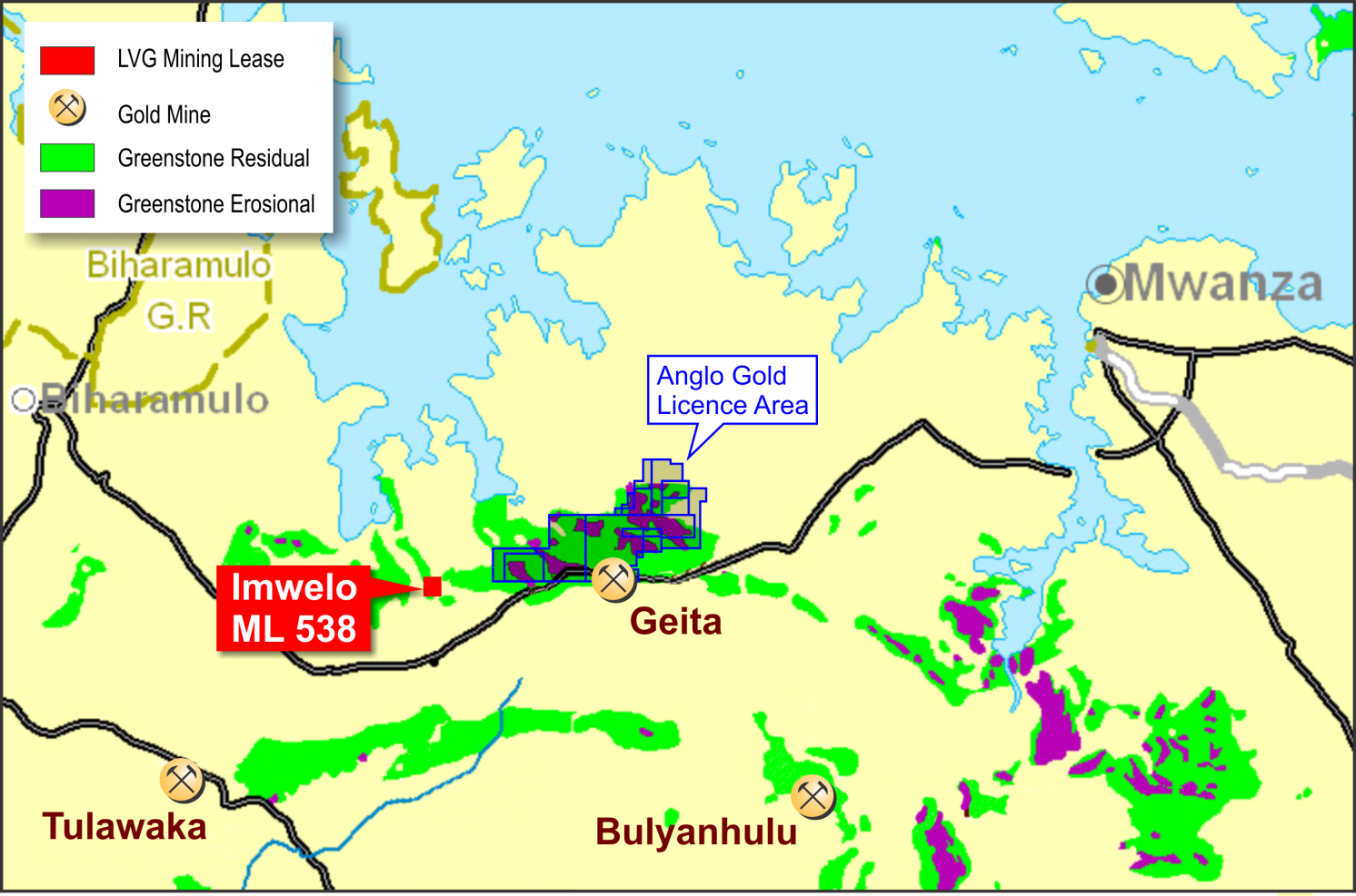Location Plan « Lake Victoria Gold | Gold and mineral exploration in